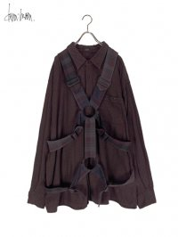 【dena:mana】<br>Dyed check parachute shirt (A)