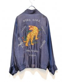 【USED】<br>70's VINTAGE SATIN SOUVENIR TOUR JACKET