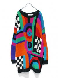 【USED】<br>CRAZY PATTERN KNIT