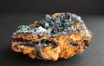 カルサイト/マラカイト/ローザサイト Calcite/Malachite/Rosasite