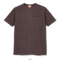ブラッシュジャージー クルーネック半袖ポケットTシャツ