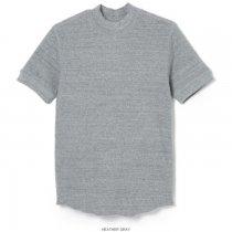 オープンエンドワッフル モックネック 半袖Tシャツ