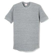 オープンエンドワッフル クルーネック半袖Tシャツ