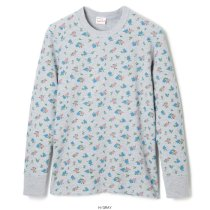 <img class='new_mark_img1' src='//img.shop-pro.jp/img/new/icons5.gif' style='border:none;display:inline;margin:0px;padding:0px;width:auto;' />Basic Waffle (Flower Print) Crewneck L/S