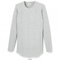 ブロードリブ クルーネック長袖Tシャツ(裾ラウンド)