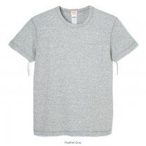 ヴィンテージヘザースラブ クルーネック 半袖ポケットTシャツ