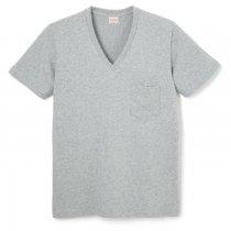 88/12 Vネック 半袖ポケットTシャツ