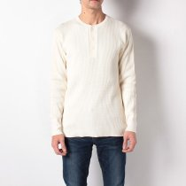 【定番商品】#990 スーパーヘビーワッフル ヘンリーネック長袖Tシャツ