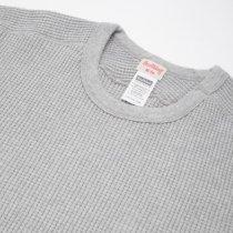【定番商品】#991 スーパーヘビーワッフル ARMYクルーネック 長袖Tシャツ