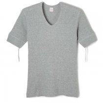 ワッフル Vネック 半袖Tシャツ