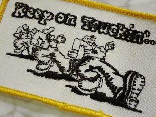 ビンテージ デッドストックワッペン アイテム#243 キープオントラッキン ロバートクラム只今2000円以上お買い上げで送料無料中! 1970'S