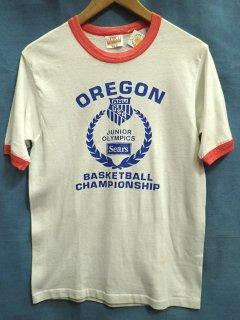 1980'S オレゴン ジュニアオリンピック  リンガーTシャツ