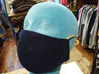藍染 ハンドメイド マスク ダークインディゴ 襤褸 BORO 明治、大正