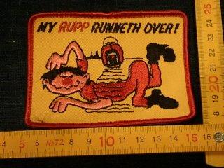 デッドストック ビンテージワッペン #16 runneth over 只今2000円以上お買い上げで送料無料中!
