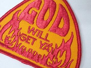 デッドストック ビンテージワッペン #18 God will get 2000円以上お買い上げで送料無料中!