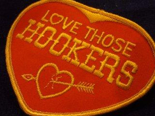 ビンテージ デッドストックワッペン アイテム#24 Love Hookers 2000円以上お買い上げで送料無料中!