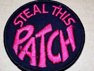 ビンテージ デッドストック アイテム#74 Steal This Patch1970'S