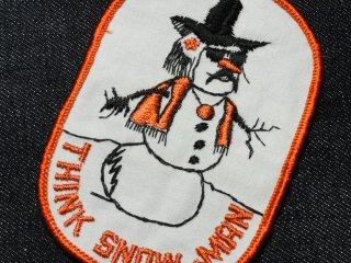 ビンテージ デッドストック ワッペン #189 Snow man 1970'S