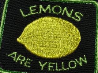ビンテージ デッドストック ワッペン #193 Lemons 1970'S