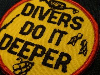 ビンテージ デッドストック ワッペン #205 Divers 1970'S ワッペン2000円以上お買い上げで送料無料!