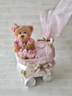 【数量限定品】ベビーカー おむつケーキ 王冠 クラウン Princess diaper cake 送料無料