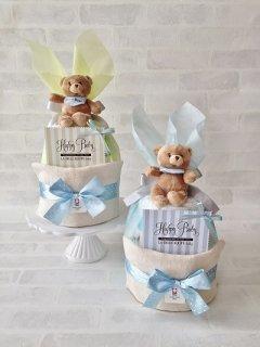 フルフィー 2段オムツケーキ 男の子 baby boy 送料無料