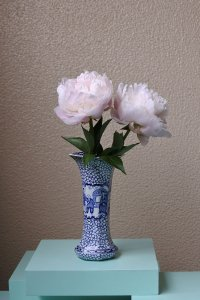 Chinese pattern vase / シノワズリの絵の花器