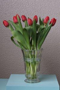 SOLD round glass vase / 円型のガラスの花器