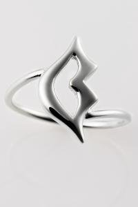 lip ring large ring silver