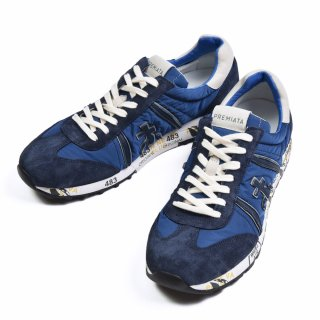 PREMIATA WHITE プレミアータホワイト LUCY スエード・ナイロン スニーカー BLUE NAVY