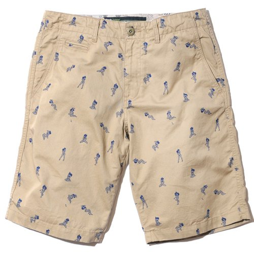 BackChannel バックチャンネル GIRL PRINT CHINO SHORTS 1