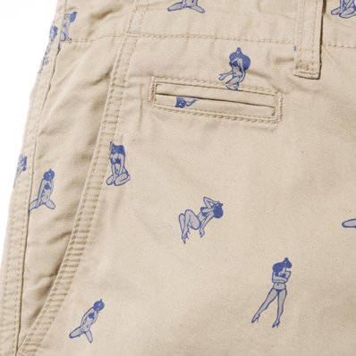 BackChannel バックチャンネル GIRL PRINT CHINO SHORTS