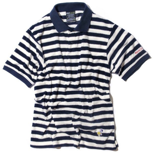 BackChannel バックチャンネル PILE BORDER POLO SHIRT