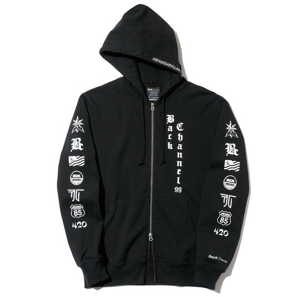 BackChannel バックチャンネル OLD ENGLISH LOGO FULL ZIP PARKA 1