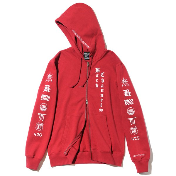 BackChannel バックチャンネル OLD ENGLISH LOGO FULL ZIP PARKA