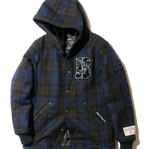 BackChannel バックチャンネル  HOODED STADIUM JACKET 1