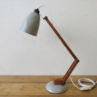 ヴィンテージ マックランプ ライトグレー 木製アーム 美品 ソケット交換済 LED電球使用可