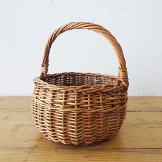 イギリス ヴィンテージ 天然素材のミニバスケット B