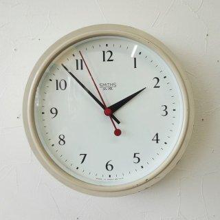 イギリス ヴィンテージ スミス社 ウォールクロック ベークライト アイボリーペイント 30cm