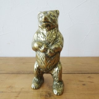 イギリス ヴィンテージ クマの貯金箱 真鍮製 再入荷