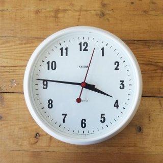 イギリス ヴィンテージ スミス社 ウォールクロック ホワイトベークライト 28cm