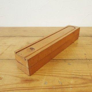 イギリス ヴィンテージ 木製ペンケース 2段