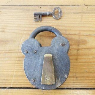 イギリス ヴィンテージ パドロック 鍵付き B