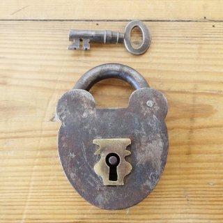 イギリス ヴィンテージ パドロック 鍵付き C
