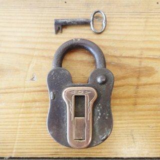 イギリス ヴィンテージ パドロック 鍵付き F