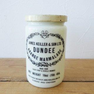 イギリス ヴィンテージ DUNDEE ダンディー マーマレードジャー ミルクガラス D