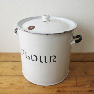 イギリス アンティーク ホーローフラワー缶 大きなサイズ