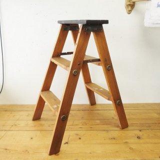 イギリス ヴィンテージ 木製ステップラダー 脚立