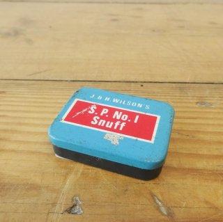 イギリス ヴィンテージ 小さなブリキ缶 S.P.No1 Snuff