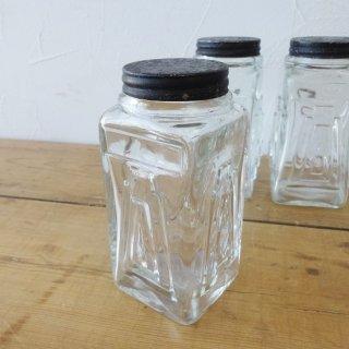 イギリス アンティーク アールデコ ガラスジャー (小) 3個入荷